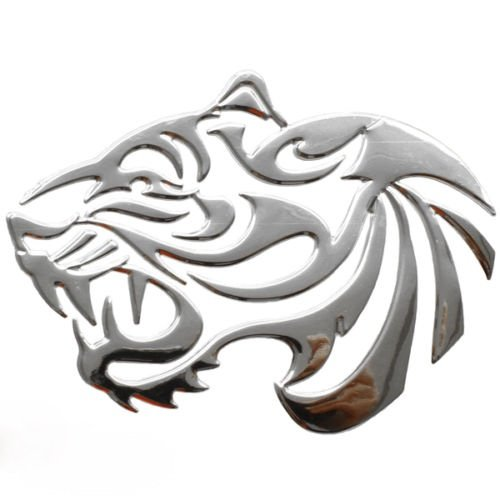 Aufkleber Sticker Silber Chrom 3D Emblem TIGER Auto Motorrad styling DZ-27S Tiger Aufkleber