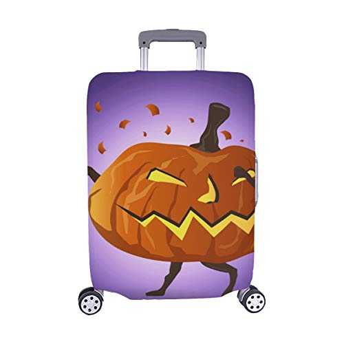 (Nur abdecken) Tupfende Nacht Halloween Kürbis Cartoon Charakter Muster Staubschutz Trolley Protector case Reisegepäck Beschützer Koffer Abdeckung 28,5 X 20,5 Zoll (Un-halloween-kürbis Schnitzen Muster)