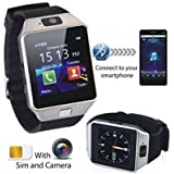 HealthMax (TM) HMS02-SR with SIM card, 32GB memory card slot, Bluetooth and Fitness Tracker Smartwatch
