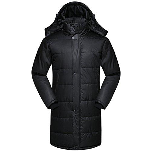 WTUS Camouflage long coat hommes et femmes manteau de coton à la mode coupe-vent extérieur Noir