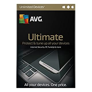 AVG Ultimate 2016 2 Year - Internet Security & TuneUp for Unlimited PCs, Tablets & phones
