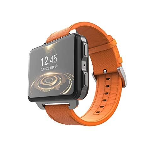 htfrgeds Smartwatch mit schwarzem Sportarmband (Bluetooth 4.0, WLAN, GPS,Android Smart Watch Phone)1GB 16GB 1200MH 130W MP4 Cámara 3G (2.2 Zoll) Display Smartwatch (Orange) 1 Gb Mp4 Watch
