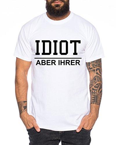 Idiot Zicke Queen Partner Look Pärchen Valentinstag T-Shirt Set, Größe:L;Partner Shirts:Herren T-Shirt Weiß