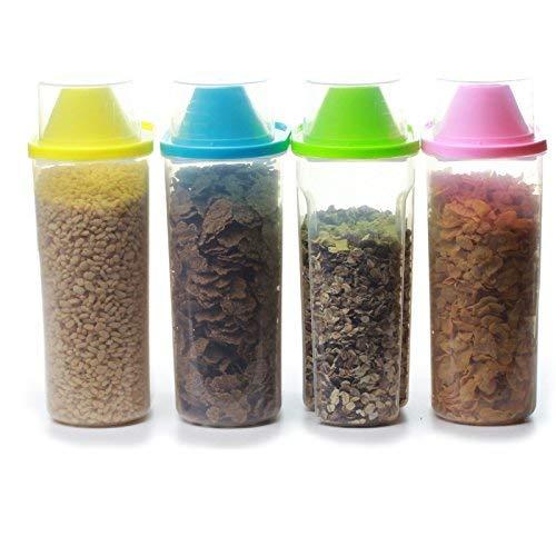 4 contenitori per cereali colori diversi con misurino 4 X Large 2.5L