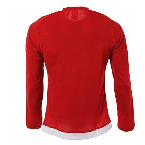 Adidas Estro 15 Jsy L Maglia da Uomo Rosso/Bianco (Rojpot/Bianco)