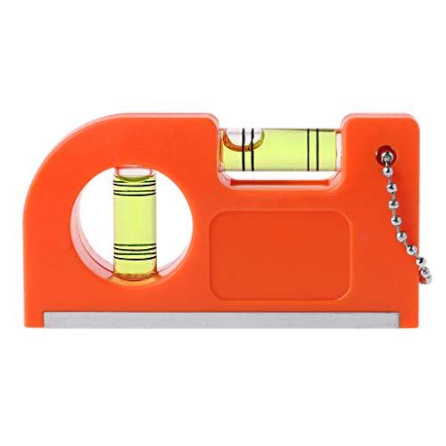 Mini-Schlüsselanhänger-Lineal mit Magnetsockel, V-Streifen-Wasserwaage, Luftblasenklemme