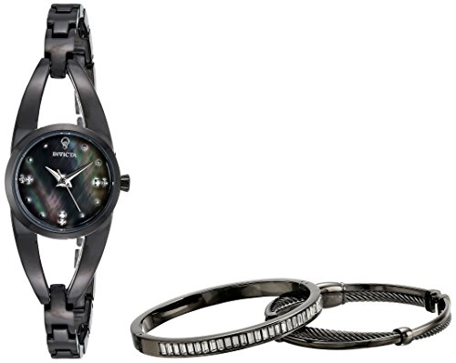 Invicta Women's 'Gabrielle Union' Quartz Stainless Steel Casual Watch, Color:Black (Model: 23315)