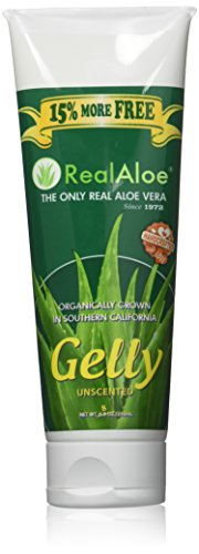Real Aloe Aloe Vera Gelly Unscented 8 oz (230 ml) Gel