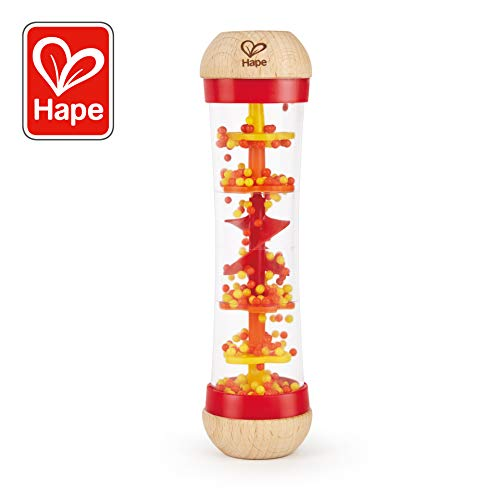 Hape E0327 - Roter Regenmacher, Musikspielzeug, ab 0 Monaten