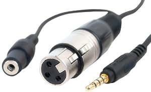 CableJive ProJive XLR, Adaptateur Microphone, Noir