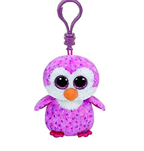 Beanie Boos 36641 - Llavero de peluche, pingüino de color rosa