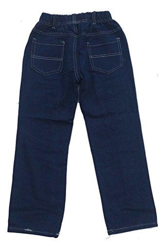 Bequeme Jungen Jeans mit rundum Gummizug, in Blau, Gr. 92/98, J230.2e -