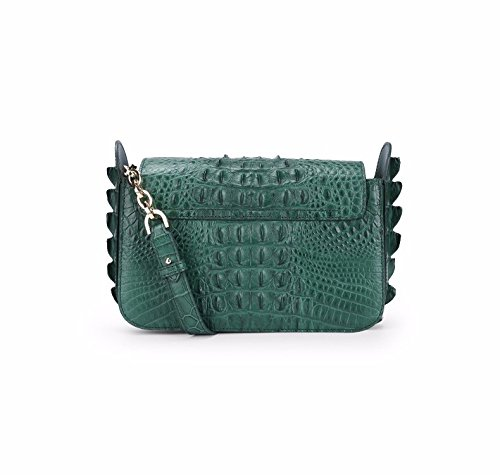 lpkone-Nouveau modèle de sac à main de luxe sac à main crocodile Messenger sac de messager d'épaule baodan Green