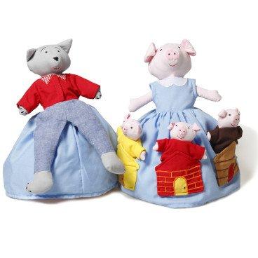 Marioneta reversible Los 3 cerditos