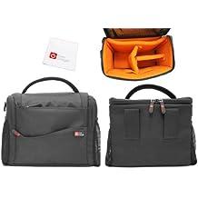 DURAGADGET Bolso Con Bandolera Compartimentos E Interior Alcochado Para La Cámara Nikon D3300 + Gamuza Limpiadora De Regalo