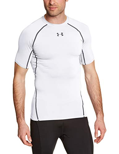 Under Armour Herren Heatgear Fitness Funktionsshirt, Weiß, XL