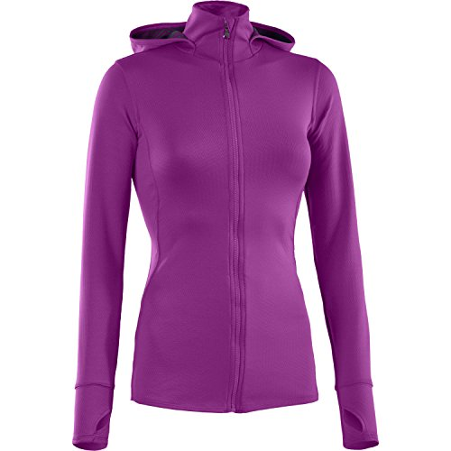 UNDER ARMOUR Damen ColdGear Fitted INFRARED Thermo Full Zip Hoody Strobe 577 - L Lacrosse Zip