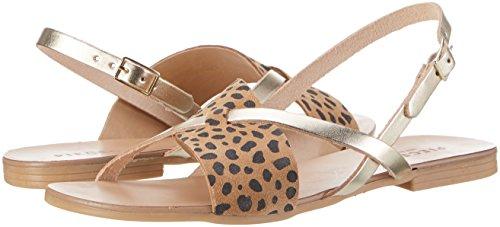 PIECES Psjoyce Leather Leopard amazon-shoes beige 5twud2MRnO