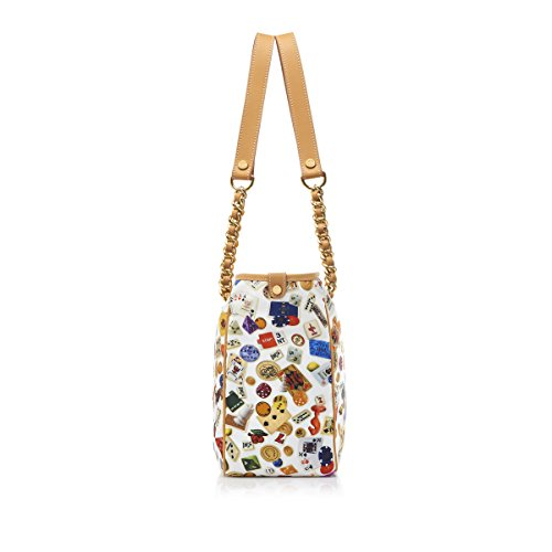 IN MADE metal bag chains Divo ITALY Diva Weiß design ANTIBES gambling nylon tote Under Mod Biskuitleder shoulder with 6qROOt