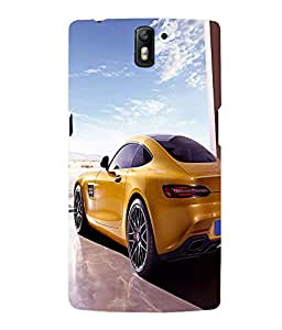 printtech Superfast Car Back Case Cover for One Plus One::One Plus1
