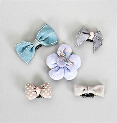 Whyyudan Beautiful Hair Decoration Gift Girl Barrettes Baby Cartoon Flower Hairpin Cute Small Hair Clip Set