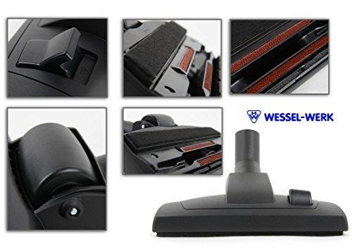 BODENDÜSE-und PARKETTDÜSE 2 in 1 Staubsaugerdüse mit Filzeinlage ORIGINAL MARKENWARE WESSEL-WERK passend für AEG JetMaxx,Parketto-Vampyr,Smart 140,Smart 485,System Pro P3