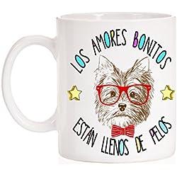 Taza Los Amores bonitos están llenos de pelos. Taza regalo de perro Yorkshire.