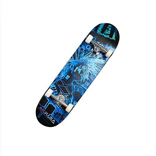 OaLt-t Skateboard Erwachsene professionelle Double Squat Wheel Skateboard Ahorn Deck begrenzt Sport und Outdoor (Color : B) (Trucks Wheels Skate Und Roller)
