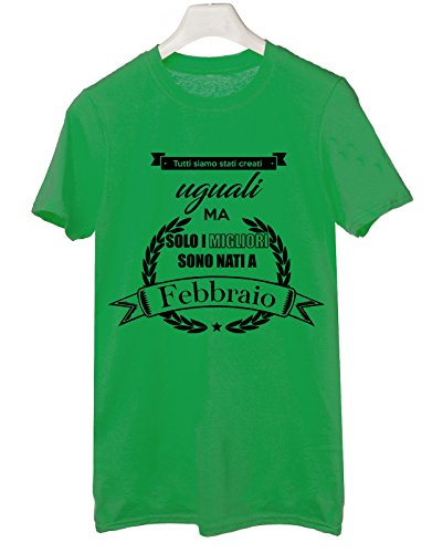 Tshirt Tutti siamo stati creati uguali ma i migliori sono nati a febbraio- compleanno - auguri - Tutte le taglie by tshirteria