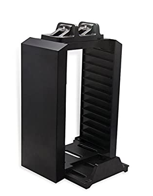 JYR Host Bracket Socket Dual-Charging Aircraft Host Disc Holder Charge Cradle Cooling Fan Base Bracket For Playstation 4 PS4 Controllers by JYR
