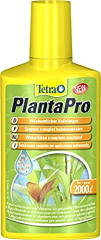 Tetra PlantaPro (wöchentlicher flüssiger Volldünger mit Spurenelementen und Vitaminen für prächtige und gesunde Aquarienpflanzen), 250 ml Flasche