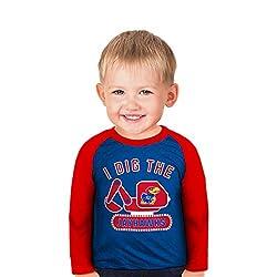 NCAA Kansas Jayhawks Boys Toddler Digger Raglan, 5 Tall, Royal