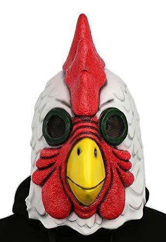 Xcoser Hahn Cock Maske Latex Helm Spiel Cosplay Kostüm Zubehör Replik für Erwachsene Halloween Verrückte Kleid Merchandise