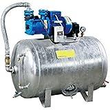 Hauswasserwerk 1,1 kW 400V 83 l/min 150L Druckbehälter verzinkt Druckkessel Set