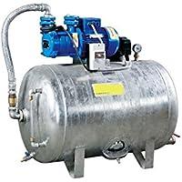 Hauswasserwerk 1,1 kW 230V 83 l/min 100L Druckbehälter verzinkt Druckkessel Set