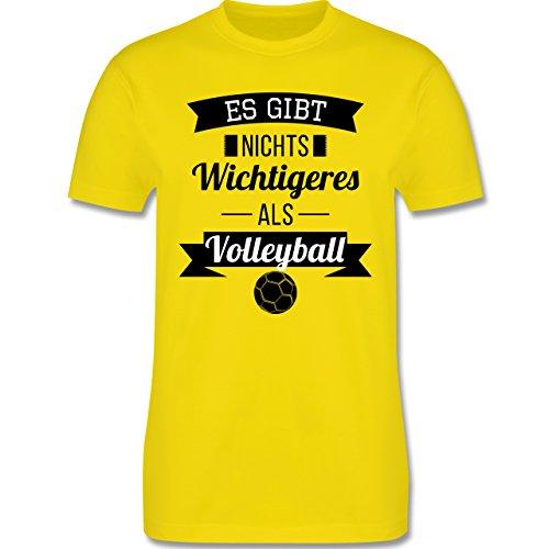 Volleyball - Es gibt nichts Wichtigeres als Volleyball - Herren Premium T-Shirt Lemon Gelb
