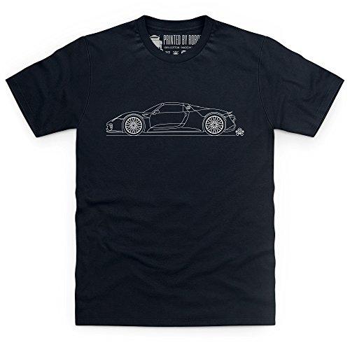918 Sports Car T-Shirt, Herren Schwarz