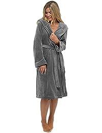 Wolf   Harte Ladies Warm Luxury Moleskin Shimmer Fleece Bathrobe Dressing  Gown 50980300f