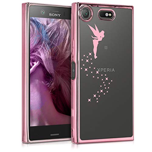 kwmobile Sony Xperia XZ1 Compact Hülle - Handyhülle für Sony Xperia XZ1 Compact - Handy Case in Rosegold Transparent