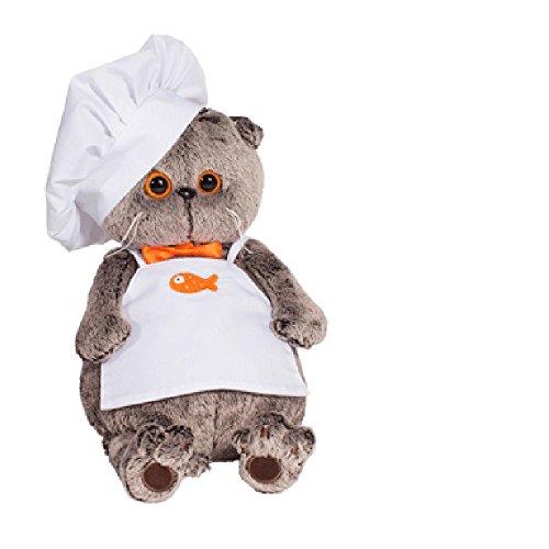 Plüsch Katze Basik&Co der Koch 30 cm von BudiBasa - Spielzeug zum Spielen für Kinder & Babys weiche Kuscheltiere und süße Stofftiere für Mädchen und Jungen ideal als Geschenk bester Spielfreund (Doll Baby Superman)