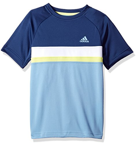 adidas Jungen Tshirt Club Tee Tennis Training Kinder Young cy9209 Fitness Fashion Gr. 164, Blue/Yellow/White