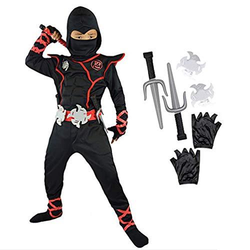 Ninja Turtle Kostüm Kinder Deluxe Ninja Outfit Kostüm Ninja Warrior Kostüm Kinder Kostüm Kinder Ninja Kostüm Halloween Cosplay Kleidung - Alter 4-6 (Kleinkind Junge Ninja Turtle Kostüm)