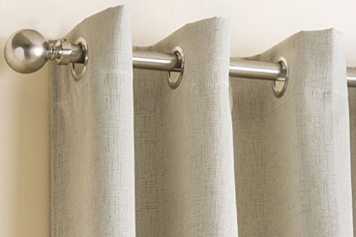 "Cream Textured Thermal Blockout Eyelet Ring Top Curtains 90 "" x 108 "" ( 229 cm Wide x 274 cm Drop )"