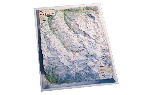 Mapa relieve Domaine 3 Vallées: Escala gráfica