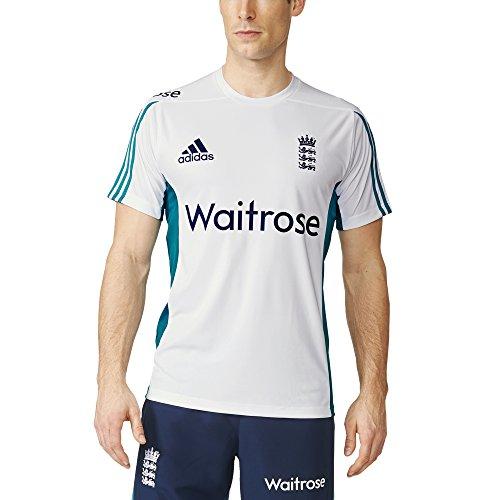 adidas Herren T-shirt ECB England Cricket Replica Training, White, 10, AH4614 (England Training Adidas)