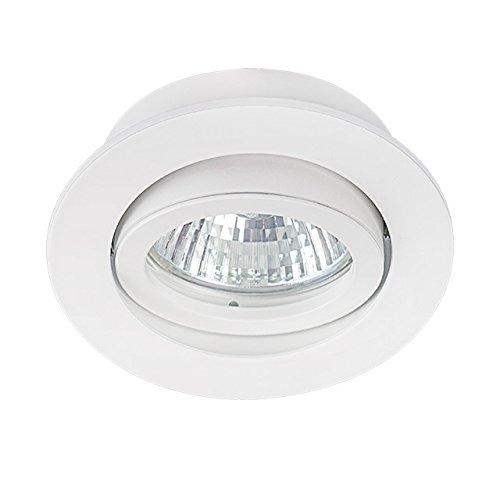 Moderner LED Einbaurahmen rund, schwenkbar weiss matt aus Aluminium BØ70mm Modell Dalla CT -