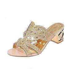 a1e49ce4b8ed5 Diamante sandals high heels. Lolittas Glitter Diamante Sandals for Women  Ladies