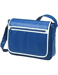 HALFAR - sac rétro sacoche bandoulière étudiant imitation cuir 1807541 - bleu roi - mixte homme/femme
