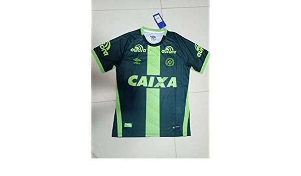 Umbro Chapecoense 2016 2017 Home Away Soccer Jersey Stadium Shirt Short  Sleeve  Amazon.co.uk  Sports   Outdoors c9782ce1a