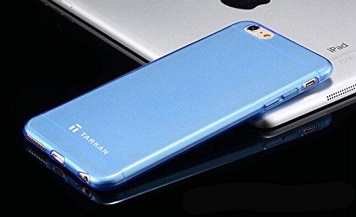 Tarkan 0.3mm Slim TPU Soft Transparent Flexible Back Case Cover For Apple iPhone 6 Plus / 6s Plus 5.5 inch - Sky Blue